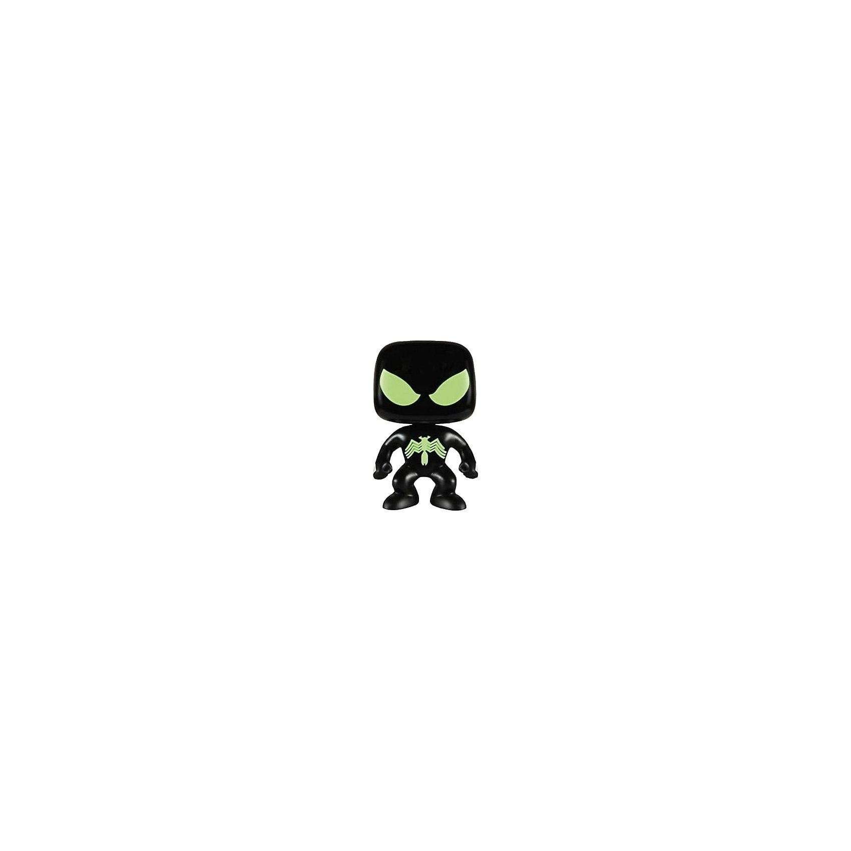 Funko Pop! Marvel - Sammelfigur Black Suit Spider-Man Glow i